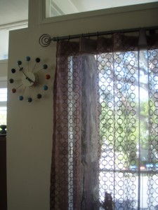 sheer curtains, circles design