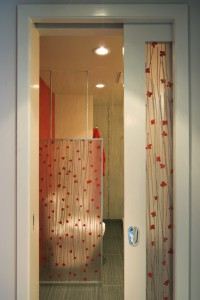 resin panels, bathroom design, 3-form