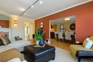 accent walls, open plan, paint colors